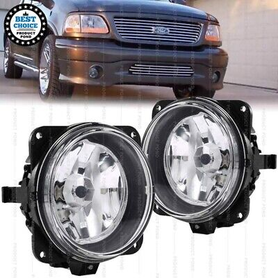 $56.99 • Buy For 00-04 Ford F-150 F150 Harley Davidson Left Right Pair Clear Fog Lights New