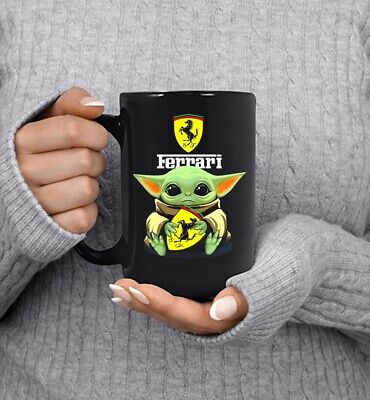 $11.99 • Buy Star Wars Baby Yoda Hug Ferrari Mug Ceramic Coffee Mug 11oz 15oz
