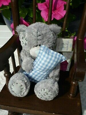 £4.99 • Buy Me To You Tatty Teddy Bear Soft Toy Blue Check Pillow Cushion & Miniature Book