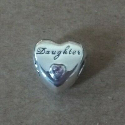 Genuine Pandora S925 Daughter's Love Charm 791726PCZ • 5£