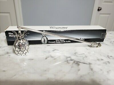 Godinger Pineapple Candle Snuffer Silver Plate Hospitality 11  New In Box • 15.53£
