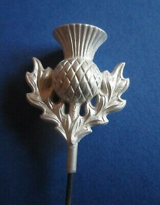 Unmarked Silver Scottish Thistle Design Hat Pin - (314) • 30£
