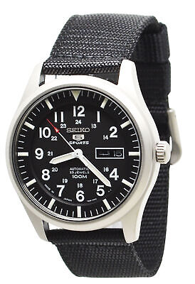 $ CDN202.99 • Buy Seiko 5 SNZG15J1 Automatic Black Dial And Band Mens Made In Japan Watch