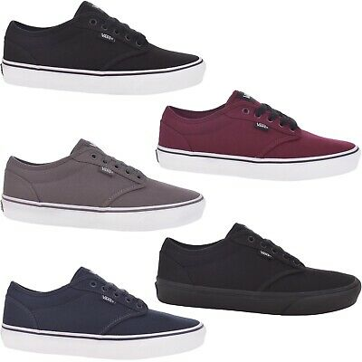 AU89.95 • Buy Vans Mens Atwood Low Top Casual Canvas Trainers Sneakers Shoes