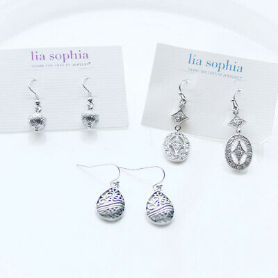 $ CDN14.92 • Buy New 3Pairs Lia Sophia Drop Earrings Gift Fashion Women Party Holiday Jewelry B2