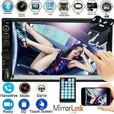 AU77.90 • Buy 7  Double 2 DIN Car Stereo Non-DVD Player Radio AM Mirrorlink For GPS Map + Cam