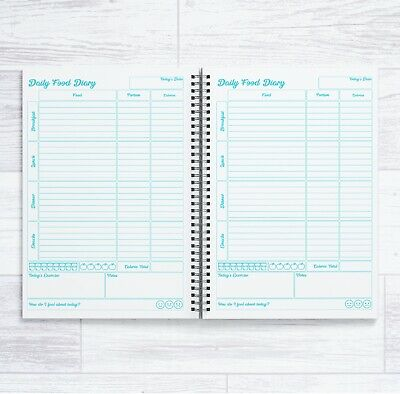 £6.99 • Buy A5 Calorie Counting 84 Daily Food Diaries In A Book 12 Week Calorie Coun Book