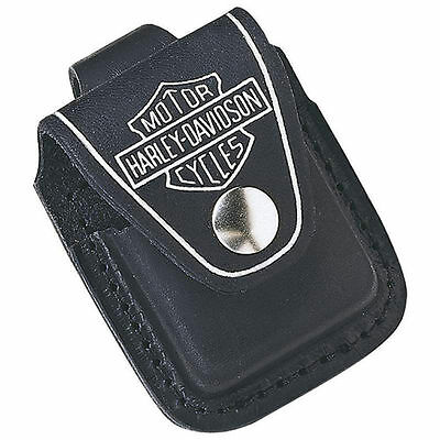 $8.25 • Buy Zippo HDPBK, Harley Davidson Black Leather Lighter Pouch, Belt Loop