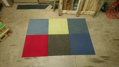 Carpet Tiles Various Soft Cut Pile UK Brand All New £16 Per Box Of 16 Delivered • 15.99£