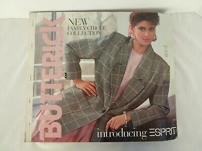 $45 • Buy Vintage October 1987 Butterick See & Sew Design Catalog Counter Book