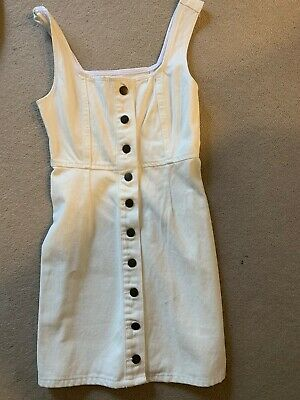 AU36 • Buy New Urban Outfitters White Denim Dress Size 2