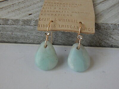 $ CDN29.18 • Buy Earrings Anthropologie Blue Green Resin Mini Crystal Hook Unique Shape New $38
