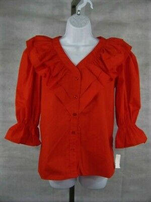 $24.99 • Buy Square Dance Blouse Small Medium MALCO MODES 2333 3/4 Sleeve Ruffle Colors