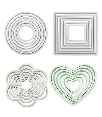 £3.98 • Buy PME Cake Tool Cutters Round Square Heart Plastic Sugarcraft