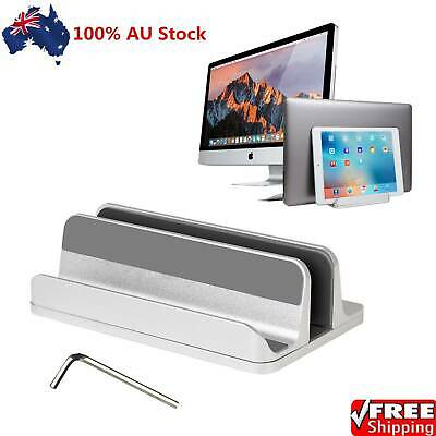 AU29.80 • Buy 2 In 1 Vertical Laptop Stand Desktop Stand Adjustable Laptop Holder Silver AU