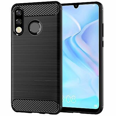 For Huawei P30 Lite New Edition Case Carbon Gel Cover Ultra Slim Shockproof • 3.90£