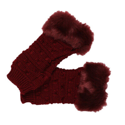 $6.36 • Buy 1Pair Womens Half Finger Gloves Playing Knitted Winter Portable Computer Gloves
