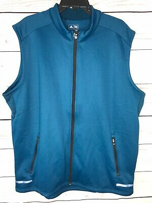 $29.99 • Buy Adidas Mens Climaheat Golf Vest Full Zip Blue Size X-Large