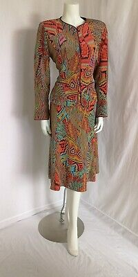 Caroline Charles Silk Printed Dress Size 12/14	Jacket  • 159£