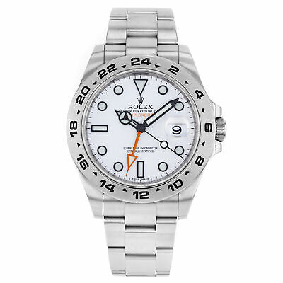 $ CDN11366.79 • Buy Rolex Explorer II 216570 WSO White Dial GMT Stainless Steel Automatic Mens Watch