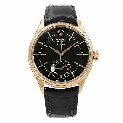 $ CDN18666.25 • Buy Rolex Cellini Dual Time Rose Gold Guilloche Dial Automatic Mens Watch 50525