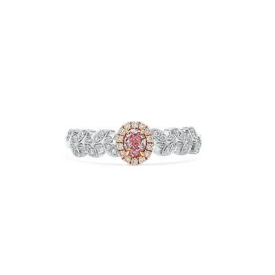 $3200 • Buy Fancy Purple Pink Diamond Ring  0.36 Ct Real Oval Cut Natural 18K White Gold GIA