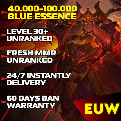 £4.32 • Buy EUW League Of Legends EUW LoL Account 30-40 Level Accounts Smurf BE Unranked  PC