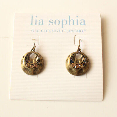 $ CDN6.30 • Buy New Lia Sophia Rhinestone Round Drop Earrings Gift Vintage Women Party Jewelry