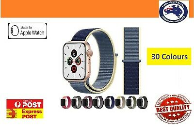 AU7.99 • Buy Sport Nylon Woven Loop Strap IWatch Band For Apple Watch Series 5 4 3 21 40 44mm