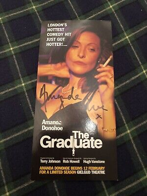 Amanda Donohoe (the Graduate) Signed  Theatre Flyer • 14£