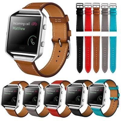 $ CDN6.37 • Buy Genuine Leather Watchband Bracelet Watch Band Strap For Fitbit Blaze Smart Watch