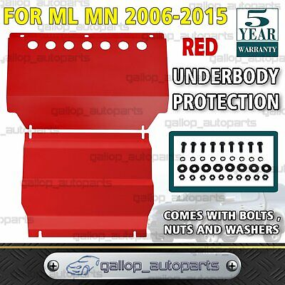 AU139 • Buy Bash Plate Fits Mitsubishi Triton ML MN 2006-2015 Intercooler & Sump Guard RED