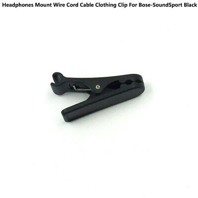 For Bose SoundSport Headphones Mount Wire Cord Cable Clothing Clip Black RC • 3.49£