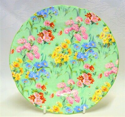 Shelley Melody Green Chintz Tea / Side Plate 1345 / 53 6 Inches  • 10£