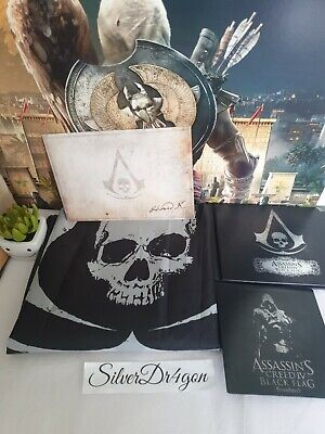 Assassins Creed Black Flag 4 Full Sized Flag Black Chest With Extras  • 34.99£