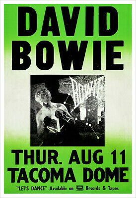 $21.50 • Buy David Bowie 1983 Tacoma Dome Concert Poster Print