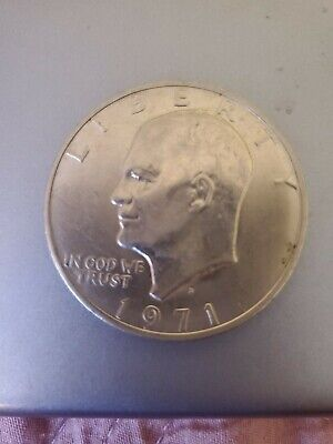 $13.50 • Buy 1971 D One Dollar Coin Liberty Eisenhower Circulated