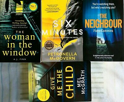 AU38.95 • Buy The Woman In The Window AJ Finn SIX MINUTES Neighbour Fiona Cummins MEL McGRATH