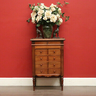 AU975 • Buy Antique French Gentleman's Tie Sock Cabinet, Ladies Jewellery Chest Of Drawers