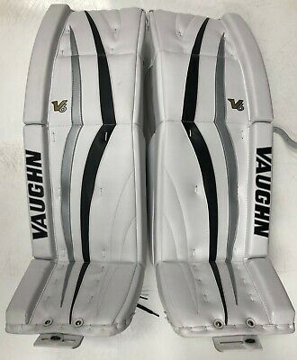 $549.98 • Buy New Vaughn 1100 Senior Ice Hockey Goalie Leg Pads 35+2 Sr Velocity V6 Black/Sil