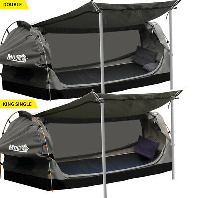AU299.99 • Buy Mountview Double King Single Swag Camping Swags Canvas Dome Tent Standing Grey