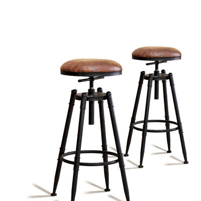 AU129.99 • Buy 2x Levede Rustic Industrial Bar Stool Kitchen Stool Barstool Swivel Dining Chair