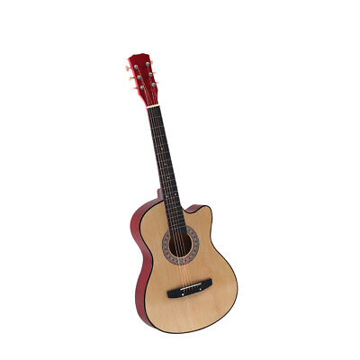 AU69.99 • Buy BoPeep 38 Inch Wooden Folk Acoustic Guitar Classical Cutaway Steel String W/ Bag