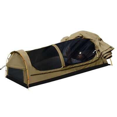 AU169.99 • Buy Mountview Double King Single Swag Camping Swags Canvas Dome Tent Hiking Khaki