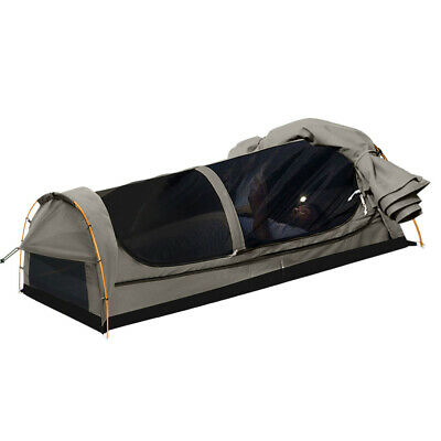 AU209.99 • Buy Mountview Double King Single Swag Camping Swags Canvas Dome Tent Hiking Grey