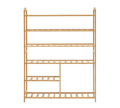 AU49.99 • Buy Levede Bamboo Shoe Rack Storage Wooden Organizer Shelf Stand 6 Tiers Layers 80cm