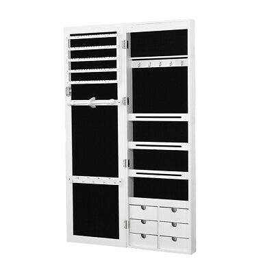AU139.99 • Buy Levede Jewellery Cabinet Full Length Mirror Mirrored Organizer Box Stand White