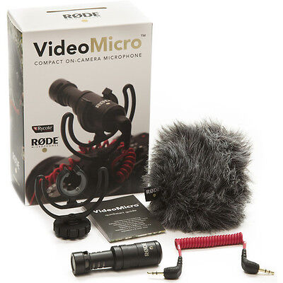 Rode VideoMicro Rycote Lyre Shock Mount On Camera Recording Microphone • 37.90£