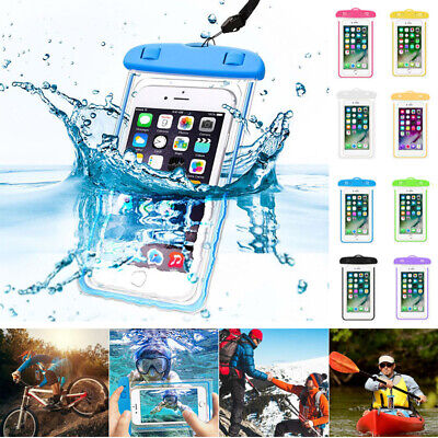 UK Fluorescent Underwater Waterproof Case Cover Dry Bag Pouch For  Mobile Phones • 2.98£