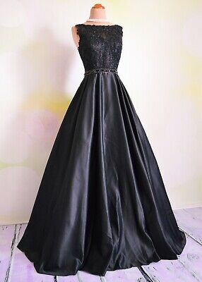 $199 • Buy Black PROM 2020 EVENING PAGEANT FORMAL BALL GALA DRESS WEDDING GOWN S 4